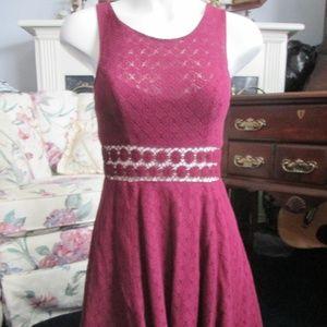 Free People - Purple Diamond Pattern Dress Size 4
